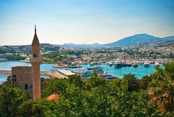 Türkei, Türkische Ägäis - Blick auf Bodrum ( Urlaub, Reisen, Lastminute-Reisen, Pauschalreisen )