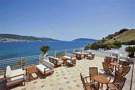 Hotel Voyage Bodrum Cafe-Terrasse - Halbinsel Bodrum, Türkei Südägäis (  Urlaub, Reisen, Lastminute-Reisen, Pauschalreisen )