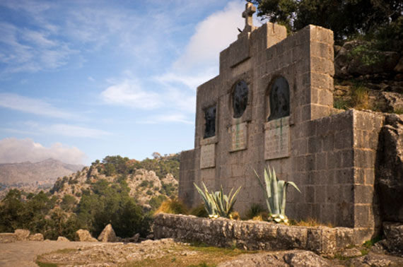 Mallorca, Lluc - Station des Pilgerweges nach Lluc ( Urlaub, Reisen, Lastminute-Reisen, Pauschalreisen )