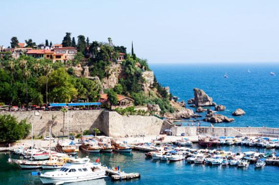 Türkische Riviera, Antalya - alter Hafen ( Urlaub, Reisen, Last-Minute-Reisen, Pauschalreisen )