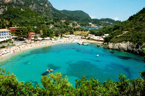 Griechische Insel Korfu (Ionische-Inseln) - Paleokastritsa an der Westküste ( Urlaub, Reisen, Lastminute-Reisen, Pauschalreisen )