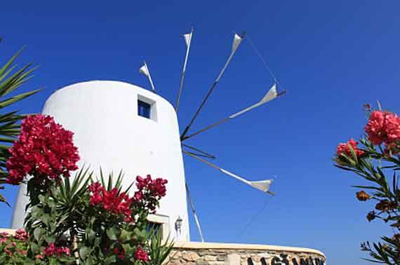 Griechische Insel Paros (Kykladen Inseln) - Windmühle ( Urlaub, Reisen, Lastminute-Reisen, Pauschalreisen )