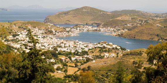 Griechische Insel Patmos (Dodekanes-Inseln) - Hafen von Skala ( Urlaub, Reisen, Lastminute-Reisen, Pauschalreisen )