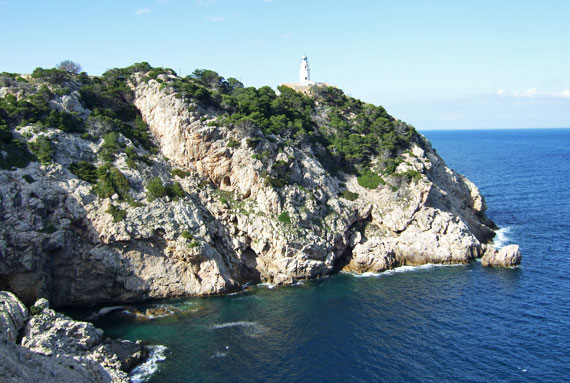 Mallorca, Leuchtturm in Cala Ratjada  - Far de Capdepera ( Urlaub, Reisen, Lastminute-Reisen, Pauschalreisen )