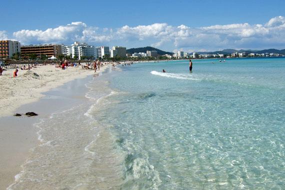 Mallorca, Cala Millor - flachabfallender Sandstrand ( Urlaub, Reisen, Lastminute-Reisen, Pauschalreisen )