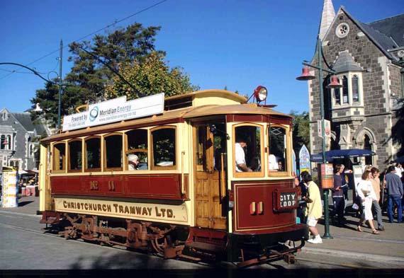 Neuseeland, Museumsstrassenbahn/Tramway in Christchurch ( Urlaub, Reisen, Lastminute-Reisen, Pauschalreisen )