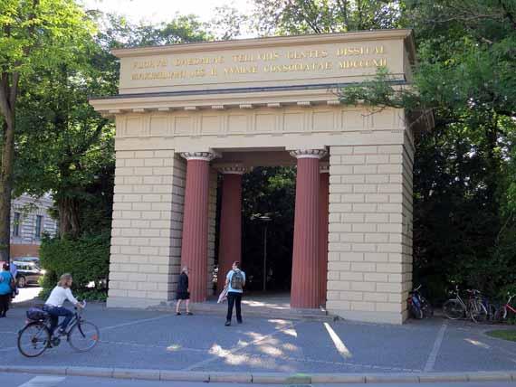 Bayern, Oberbayern, München - Eingang zum Alten Botanischen Garten (Reisen, Urlaub)