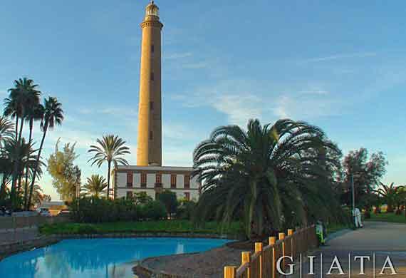 Leuchtturm El Faro in  Maspalomas, Gran Canaria, Kanaren, Spanien ( Urlaub, Reisen, Lastminute-Reisen, Pauschalreisen )