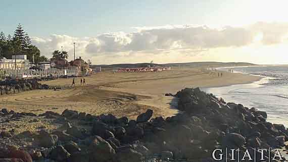 Strand von Maspalomas, Gran Canaria, Kanaren, Spanien ( Urlaub, Reisen, Lastminute-Reisen, Pauschalreisen )