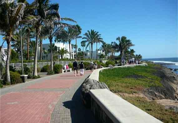 Promenade von Maspalomas nach Meloneras, Gran Canaria, Kanaren ( Urlaub, Reisen, Lastminute-Reisen, Pauschalreisen )