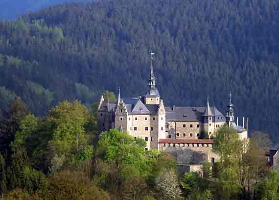 Die Mantelburg in Lauenstein, Ludwigstadt, Oberfranken, Bayern
