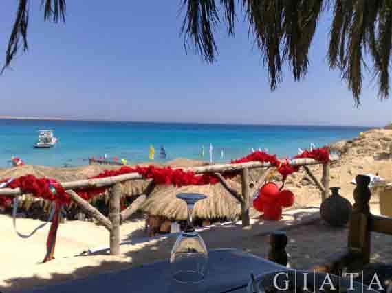 Strand bei Hurghada am Roten Meer, Ägypten ( Urlaub, Reisen, Pauschalreisen, Last Minute Reisen )
