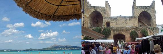 Alcudia, Mallorca - Strand und Markt ( Urlaub, Reisen, Lastminute-Reisen, Pauschalreisen )