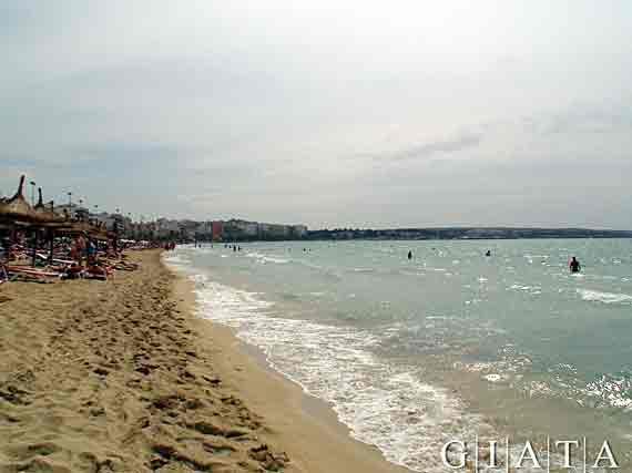 Sandstrand Playa de Palma, Mallorca, Spanien (Reisen, Urlaub, Lastminute)