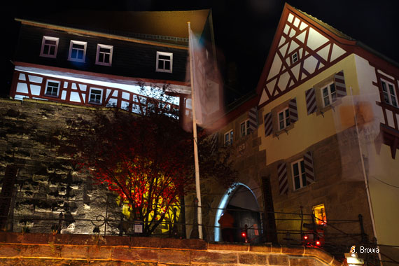Kronach Leuchtet ( Bamberger Tor ), Frankenwald, Bayern, Deutschland