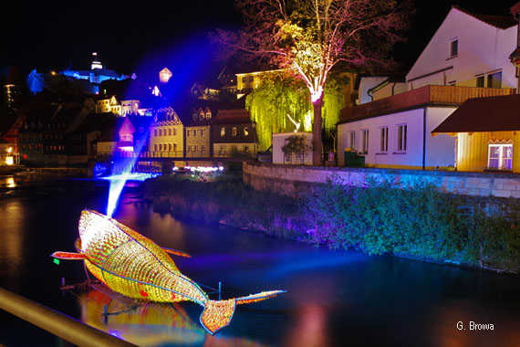 Kronach Leuchtet ( an der Haßlach ), Frankenwald, Bayern, Deutschland